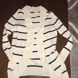 Merona striped open cardigan sweater